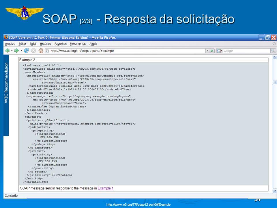 SOAP [2/3] - Resposta da solicitação